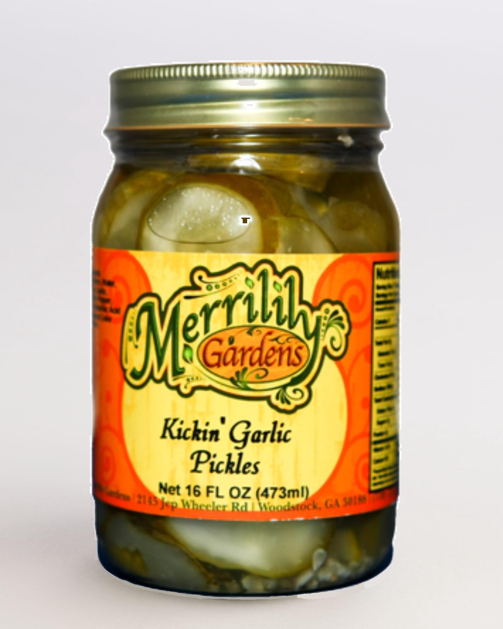 Kickin' Garlic Pickles